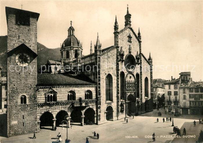 AK / Ansichtskarte Como Lombardia Piazza del Duomo Kat. Como