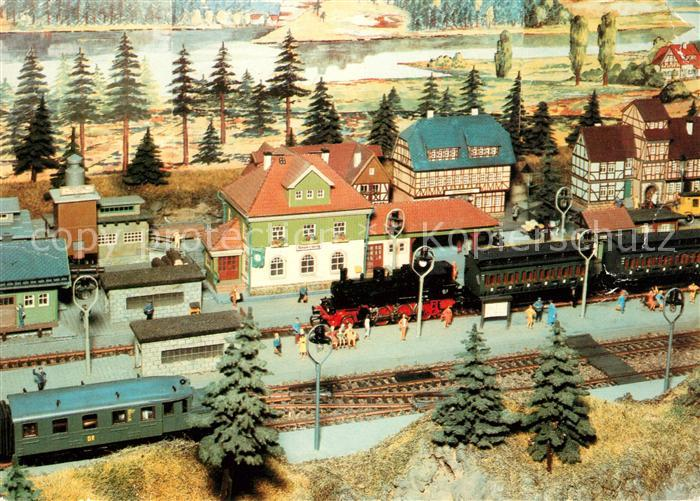 AK / Ansichtskarte Modellbau Eisenbahn Neuenburg Kat. Spielzeug