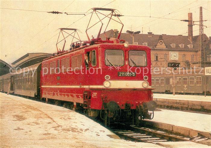 AK / Ansichtskarte Lokomotive Bo Bo  Schnellzuglokomotive 211 001 3 Kat. Eisenbahn