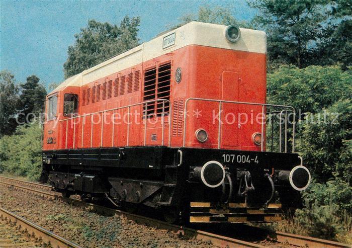 AK / Ansichtskarte Lokomotive Bo Bo  Diesellokomotive 107 004 4 Kat. Eisenbahn