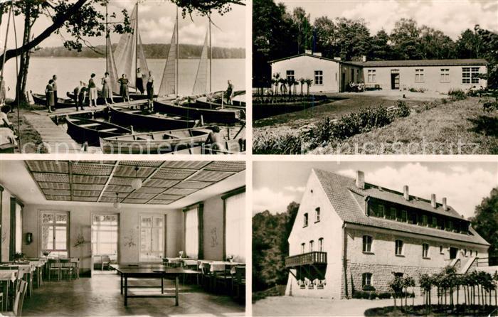 AK / Ansichtskarte Fredersdorf Vogelsdorf Betriebsferienheim Stienitzsee Seglerhafen Bootssteg Kat. Fredersdorf Vogelsdorf