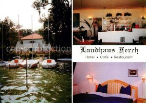 AK / Ansichtskarte Ferch Landhaus Ferch Hotel Cafe Restaurant am Schwielowsee Segelboot Kat. Schwielowsee