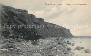 AK / Ansichtskarte Oldenburg Holstein Hohes Ufer bei Weidehof Kat. Oldenburg in Holstein