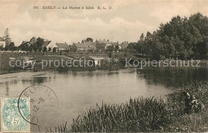 AK / Ansichtskarte Esbly La Marne a Isles Kat. Esbly