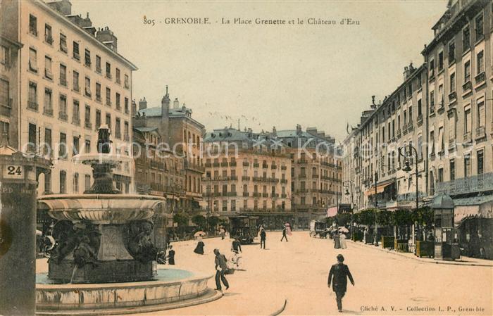 AK / Ansichtskarte Grenoble La Place Grenette et le Chateau l Eau Kat. Grenoble