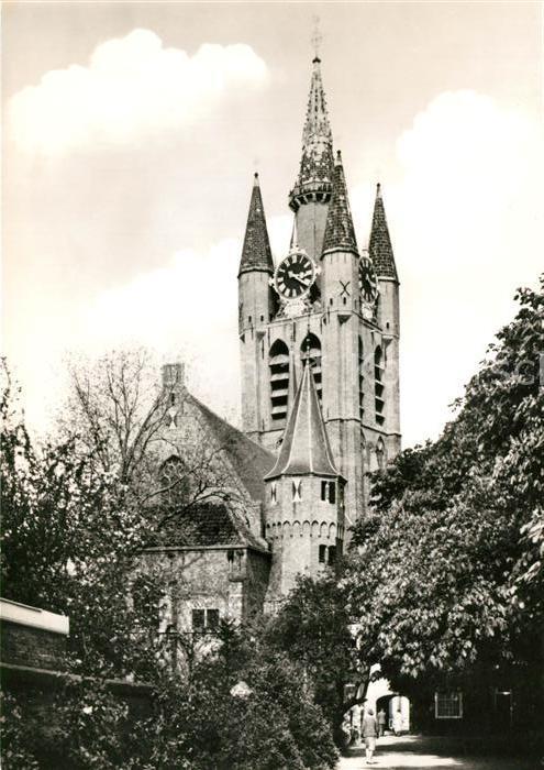 AK / Ansichtskarte Delft Oude Kerk Kat. Delft