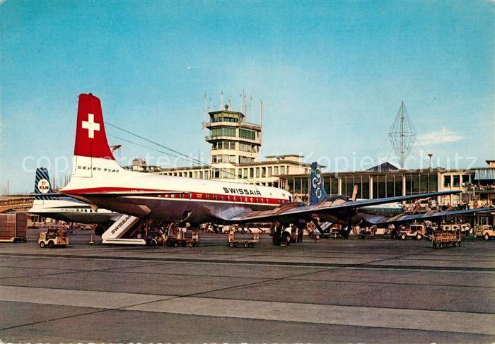 AK / Ansichtskarte Swissair Zuerich Flughafen Kloten  Kat. Flug