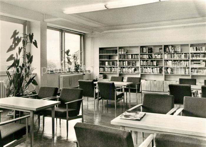 AK / Ansichtskarte Bad Sulza Wismut Sanatorium Bibliothek Kat. Bad Sulza