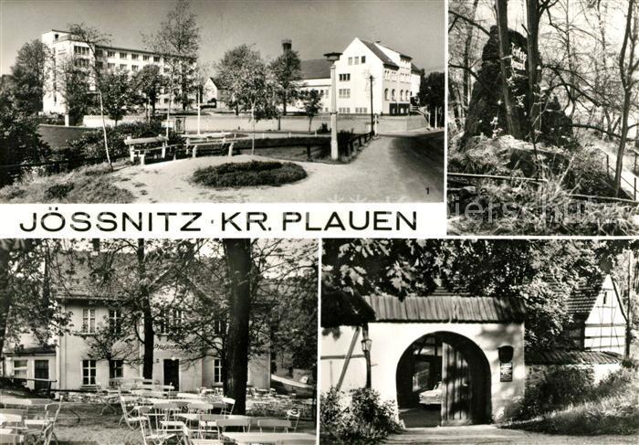 AK / Ansichtskarte Joessnitz FDGB Erholungsheim Richard Mildenstrey Teufelskanzlei Gaststaette Pfaffenmuehle Ferienheim Lochbauer Kat. Plauen