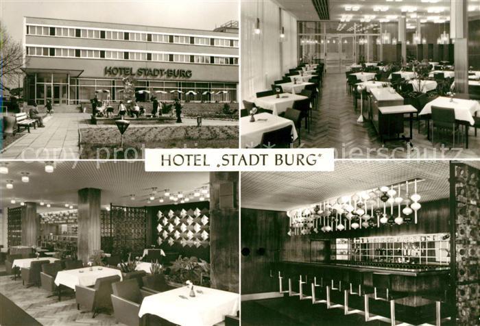 AK / Ansichtskarte Burg Magdeburg Hotel Stadt Burg  Kat. Burg