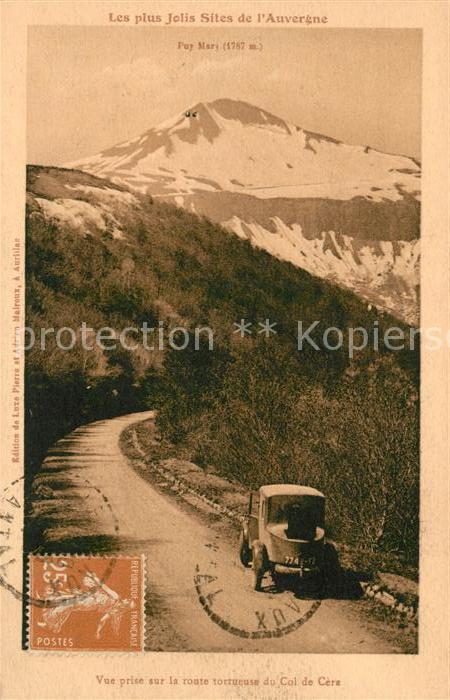 AK / Ansichtskarte Cantal Auvergne Vue prise sur la route tortueuse du Col de Cera
