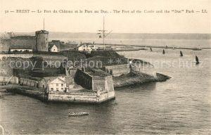 AK / Ansichtskarte Brest Finistere Le Fort du Chateau et le Parc du Duc Kat. Brest