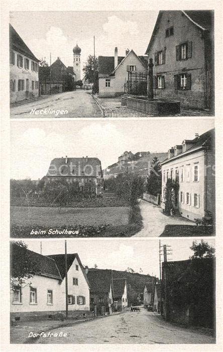AK / Ansichtskarte Hecklingen Stassfurt Dorftastrasse Schulhaus Kat. Hecklingen Stassfurt