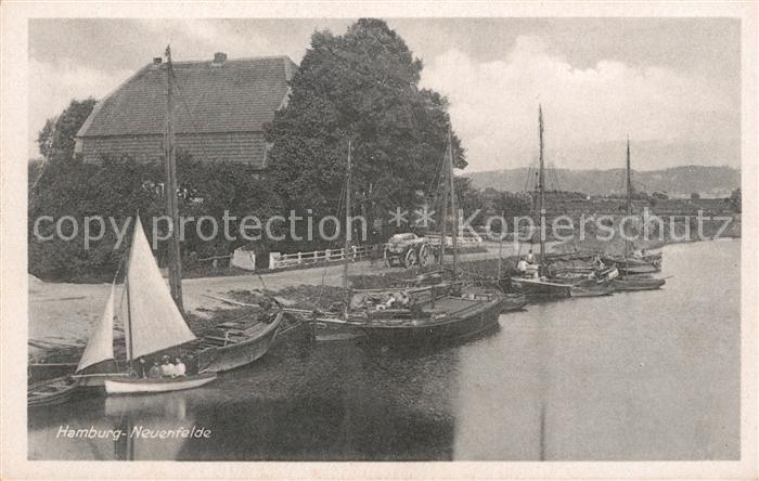 AK / Ansichtskarte Hamburg Neuenfelde Hafen Segelboote Kat. Hamburg