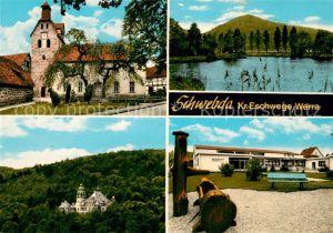 AK / Ansichtskarte Schwebda Werra Kloster Schloss Sorgenhaus Werratal Kat. Meinhard