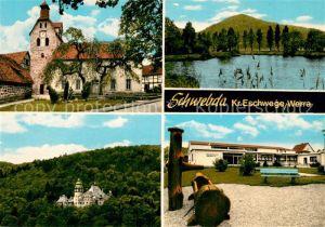 AK / Ansichtskarte Schwebda Werra Kloster Schloss Teich Sorgenhaus Werra Kat. Meinhard