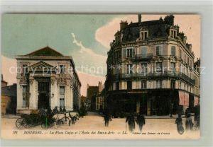 AK / Ansichtskarte Bourges La Place Cujas et l'Ecole des Beaux Arts Kat. Bourges