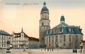 AK / Ansichtskarte Waltershausen Gotha Markt Kirche Kat. Waltershausen