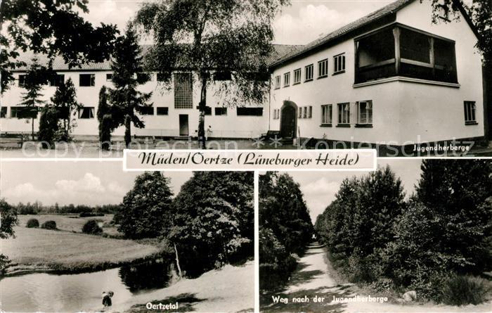 AK / Ansichtskarte Mueden oertze Jugendherberge Oertzetal Weg zur Jugendherberge Kat. Fassberg