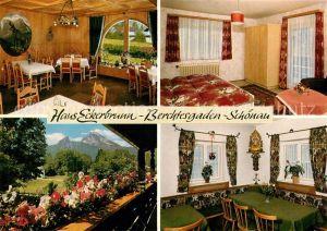 AK / Ansichtskarte Schoenau Berchtesgaden Pension Haus Eckerbrunn Kat. Berchtesgaden