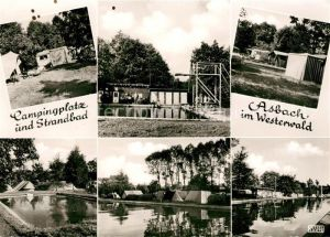 AK / Ansichtskarte Asbach Westerwald Campingplatz Strandbad Kat. Asbach