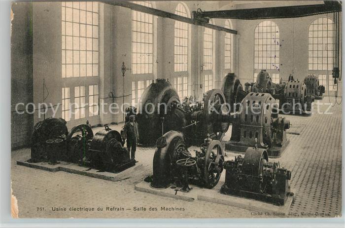 AK / Ansichtskarte Vallee du Doubs Usine electrique du Refrain Salle des Machines