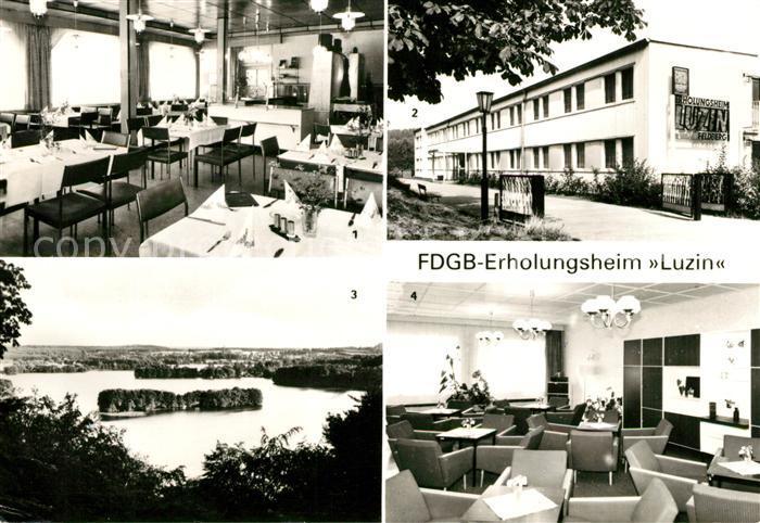 AK / Ansichtskarte Feldberg Mecklenburg Gaststaette Erddamm Haussee Erholungsheim Luzin  Kat. Feldberger Seenlandschaft