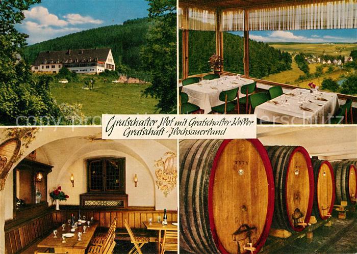 AK / Ansichtskarte Grafschaft Sauerland Grafschafter Hof Keller Kat. Schmallenberg