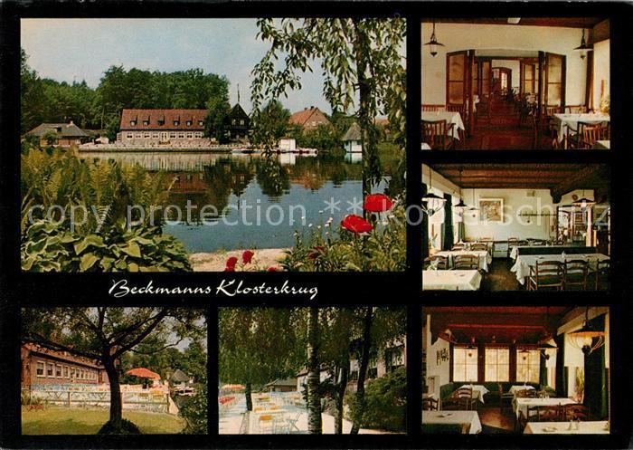 AK / Ansichtskarte Neukloster Niederelbe Beckmanns Klosterkrug Hotel See Kat. Buxtehude