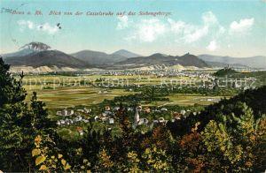 AK / Ansichtskarte Bonn Rhein Blick von der Casselsruhe auf das Siebengebirge Kat. Bonn
