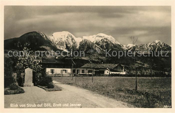 AK / Ansichtskarte Strub Blick auf Goell Brett und Jenner Kat. Bischofswiesen