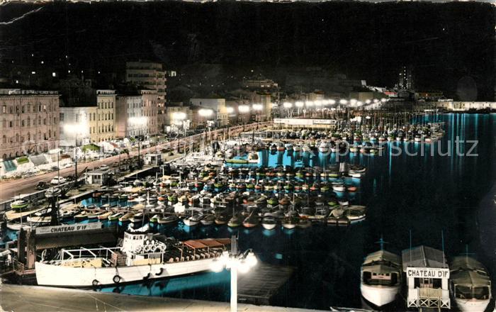 AK / Ansichtskarte Marseille Bouches du Rhone Le Quai des Belges et le Quai de Rive Neuve la nuit