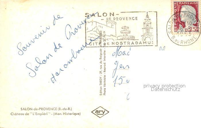 Ak ansichtskarte salon de provence chateau de l empieri - Pharmacie de l europe salon de provence ...