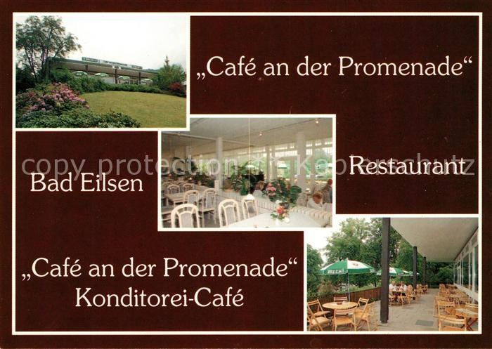 AK / Ansichtskarte Bad Eilsen Cafe an der Promenade Konditorei Cafe  Kat. Bad Eilsen