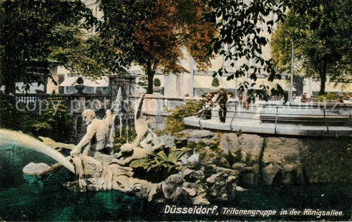 AK / Ansichtskarte Duesseldorf Tritonengruppe in der Koenigsallee Kat. Duesseldorf