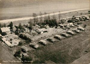 AK / Ansichtskarte Ulvshale Fliegeraufnahme Camping Strand