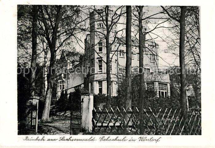 Ak Ansichtskarte Wentorf Hamburg Reinbek Am Sachsenwald Gehschule