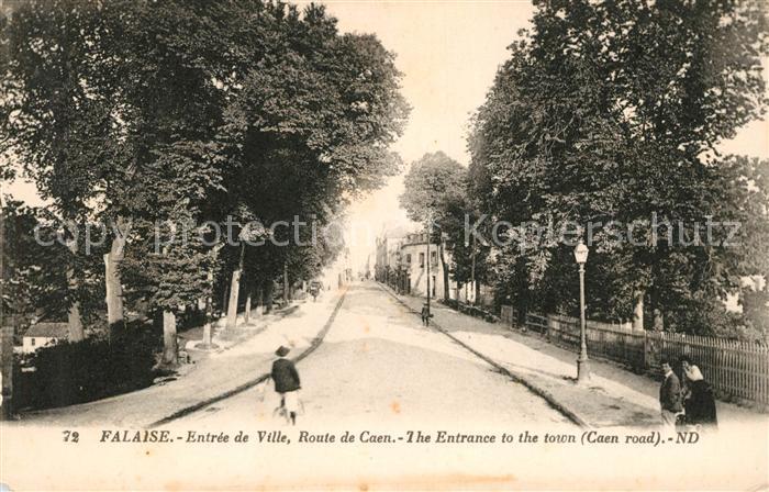 AK / Ansichtskarte Falaise Calvados Entree de Ville Route de Caen Kat. Falaise