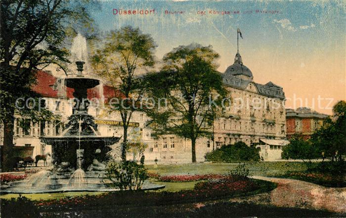 Duesseldorf Brunnen Koenigsallee Park Kat. Duesseldorf