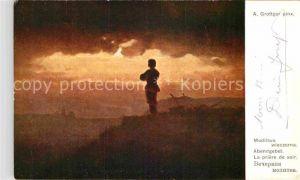 AK / Ansichtskarte Militaria Religion Abendgebet Krieg WK1