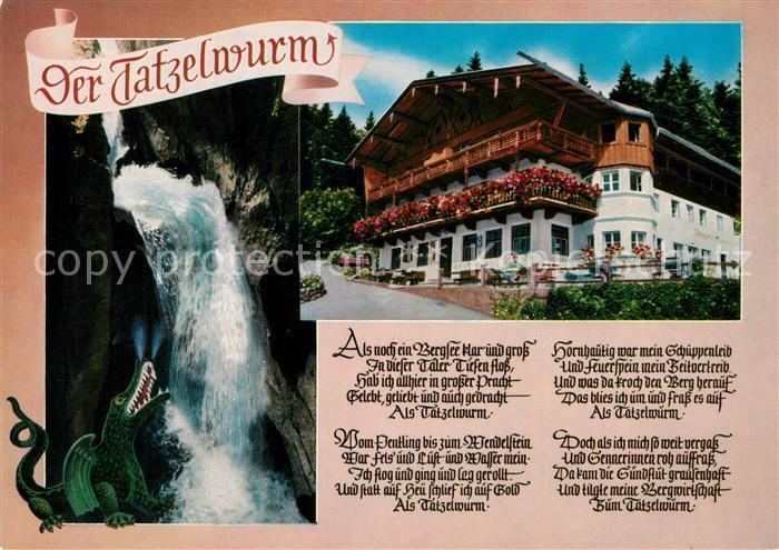 Oberaudorf Gasthof Zum Feurigen Tatzelwurm Gedicht Joseph Viktor Von Scheffel Kat Oberaudorf