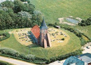 Westerhever Fliegeraufnahme St. Stephanus Kat. Westerhever