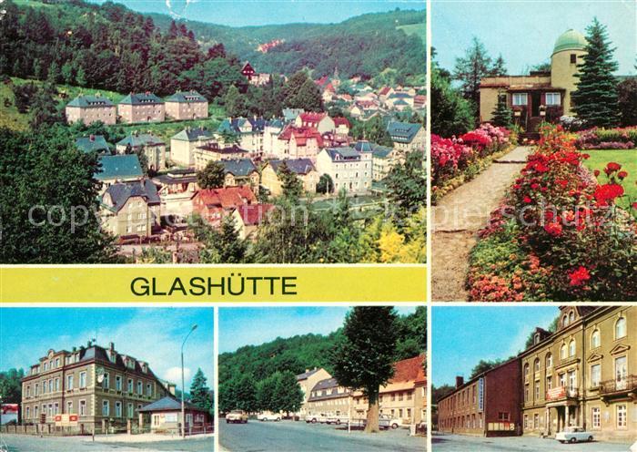 AK / Ansichtskarte Glashuette Sachsen Kulturhaus Sternwarte Panorama Kat. Glashuette Sachsen