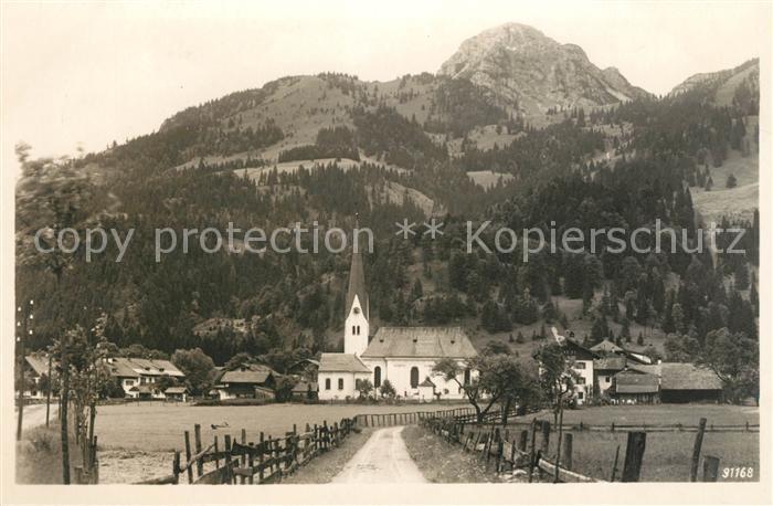 Bayrischzell mit Wendelstein Kat. Bayrischzell