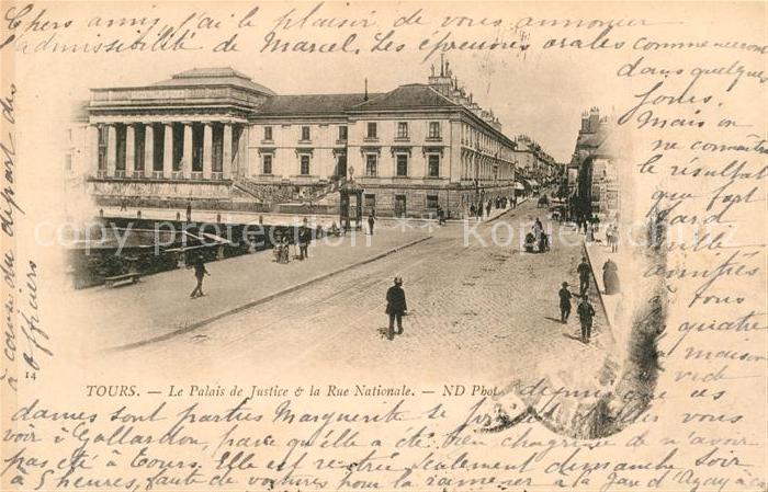 Tours Indre et Loire Palais de Justice Rue Nationale Kat. Tours