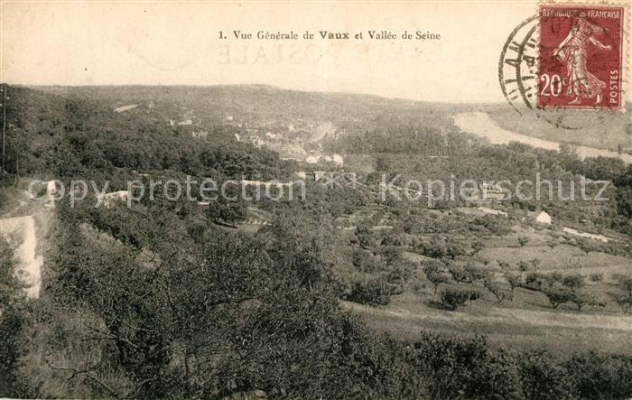 Vaux sur Seine Vue generale et Vallee de Seine Kat. Vaux sur Seine