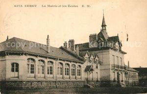 Cergy La Mairie et les Ecoles Kat. Cergy