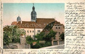 Dippoldiswalde Osterzgebirge Schloss und Kirche Kat. Dippoldiswalde