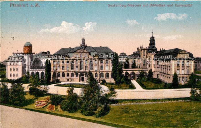 Frankfurt Main Senkenberg Museum mit Bibliothek und Universitaet Kat. Frankfurt am Main
