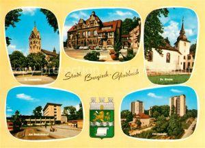 AK / Ansichtskarte Bergisch Gladbach Evangelische Kirche Busbahnhof Rathaus Kat. Bergisch Gladbach